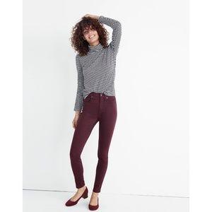 "Madewell Jeans 10"" High Rise Skinny Sateen"